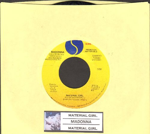 Madonna - Material Girl (MINT condition double-A-sided DJ advance pressing with juke box label) - M10/ - 45 rpm Records