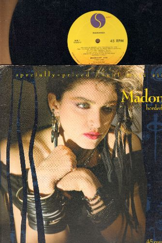 Madonna - Borderline (6:54 minutes Extended Dance Club Mix)/Lucky Star (7:13 minutes) (12 inch 45rpm vinyl Maxi Single, with picture cover Madonna's FIRST charted Hit!) - VG7/VG7 - LP Records
