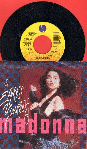 Madonna - Express Yourself (1990)/Justify My Love (with picture sleeve) - EX8/EX8 - 45 rpm Records