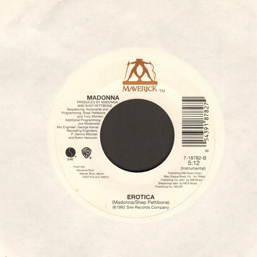Madonna - Erotica/Erotica (Instrumental)  - EX8/ - 45 rpm Records