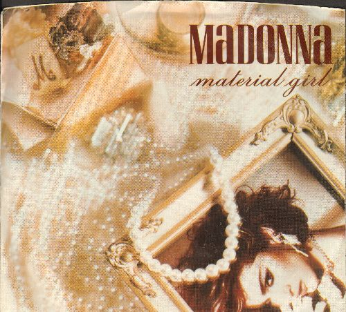 Madonna - Material Girl/Pretender (with picture sleeve) - EX8/EX8 - 45 rpm Records