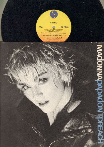 Madonna - Papa Don't Preach (5:43 Extended Version)/Pretender (4:28) (12 inch vinyl Maxi Single with picture cover) - NM9/EX8 - Maxi Singles
