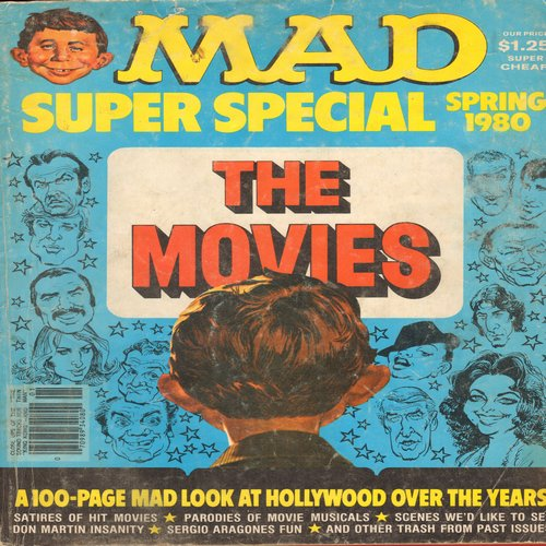 Mad Magazine - Mad Magazine Super Special Spring 1980 - The Movies - 100 Page Look at Hollywood Over The Years (Highly Collectible Classic!) - VG7/ - Mad Magazine