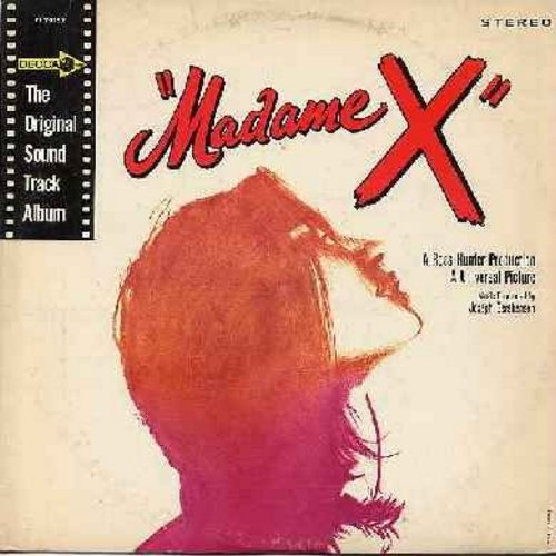 Madame X - Madame X - Original Motion Picture Sound Track, music by Joseph Gersheson, includes Love Theme -Swedish Rhapsody- (Vinyl STEREO LP record, RARE burgundy label first issue) - NM9/EX8 - LP Records
