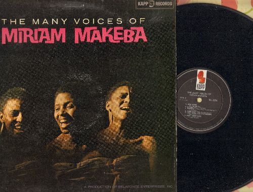 Makeba, Miriam - The Many Voices Of: Kilimanjaro, Thanayi, Carnival, Night Must Fall, Can't Cross Over (Vinyl MONO LP record) - NM9/VG7 - LP Records