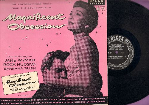 Universal-International Orchestra & Chorus - Magnificent Obsession - The Unforgettable Music From The Film Starring Jane Wyman and Rock Hudson (Vinyl MONO LP record) - EX8/EX8 - LP Records