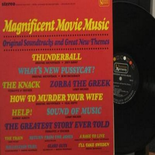 Ferrante & Teicher, John Barry, Neal Hefti, Elmer Bernstein, others - Magnificent Movie Music - Original Soundtracks: Thunderball, Zorba The Greek, I'll Take Sweden, Help!, The Train (Vinyl STEREO LP record) - NM9/NM9 - LP Records