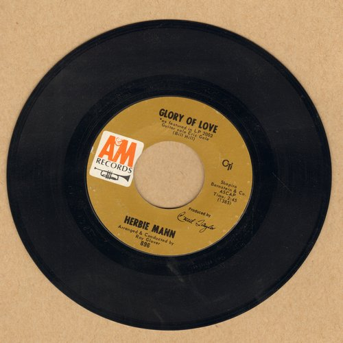 Mann, Herbie - Unchain My Heart/Glory Of Love - NM9/ - 45 rpm Records