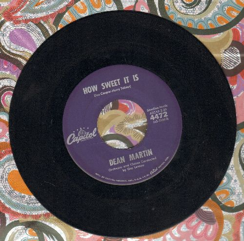 Martin, Dean - How Sweet It Is/Sogni D'oro - EX8/ - 45 rpm Records