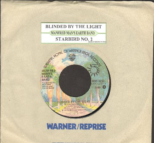 Mann, Manfred Earth Band - Blinded By The Light/Starbird No. 2 (with juke box label and company sleeve) - EX8/ - 45 rpm Records