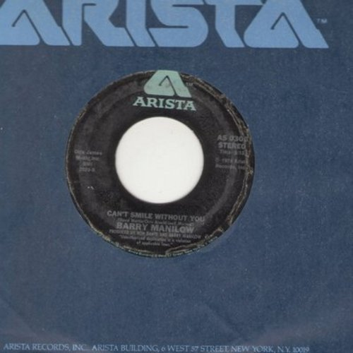 Manilow, Barry - Can't Smile Without You/Sunrise - EX8/ - 45 rpm Records