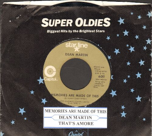 Martin, Dean - Memories Are Made Of This/That's Amore (double-hit re-issue with juke box label and company sleeve) - VG7/ - 45 rpm Records
