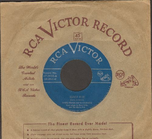 Martin, Freddy & His Orchestra - Sleigh Ride/Christmas Time (vocals by Merv Griffin, with vintage RCA company sleeve) - VG7/ - 45 rpm Records