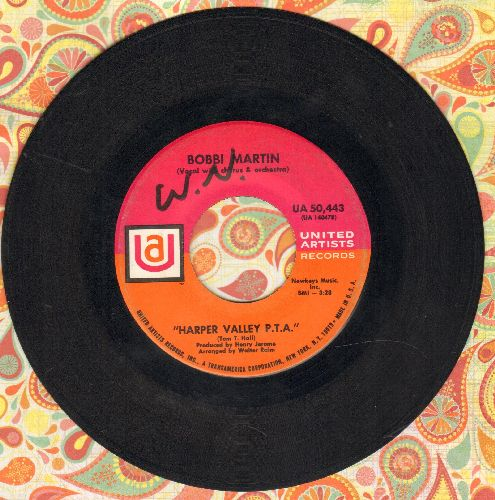 Martin, Bobbi - Harper Valley P.T.A./He Called Me Baby (minor wol) - VG7/ - 45 rpm Records
