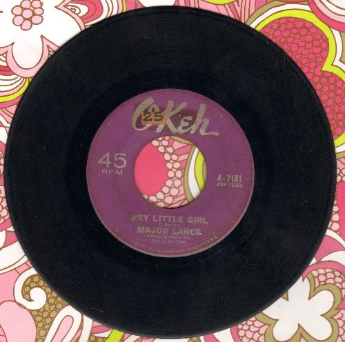 Lance, Major - Hey Little Girl/Crying In The Rain - VG7/ - 45 rpm Records