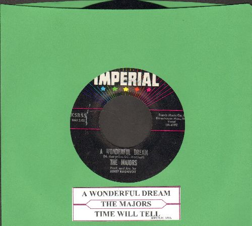 Majors - A Wonderful Dream/Time Will Tell (with juke box label) - NM9/ - 45 rpm Records