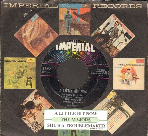Majors - A Little Bit Now (A Little Bit Later)/She's A Trouble Maker (with juke box label and company sleeve) - EX8/ - 45 rpm Records