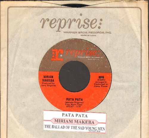 Makeba, Miriam - Pata Pata/The Ballad Of The Sad Young Men (with Reprise company sleeve and juke box label) - EX8/ - 45 rpm Records
