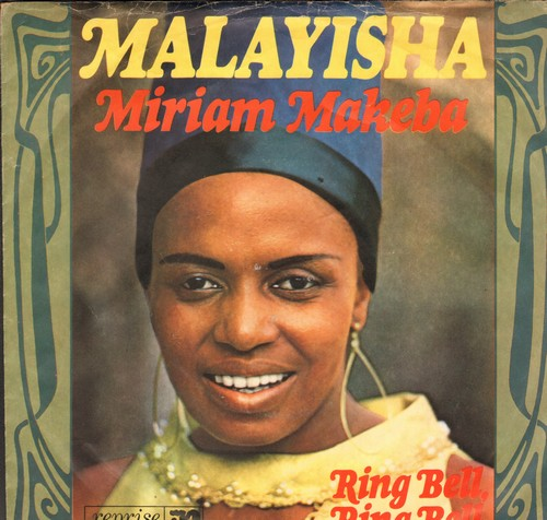 Makeba, Miriam - Malayisha (LIMBO PARTY FAVORITE!)/Ring Bell, Ring Bell (German Pressing with picture sleeve, sung in English) - VG7/EX8 - 45 rpm Records