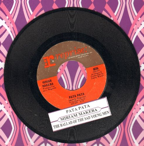 Makeba, Miriam - Pata Pata/The Ballad Of The Sad Young Men (with juke box label) - EX8/ - 45 rpm Records