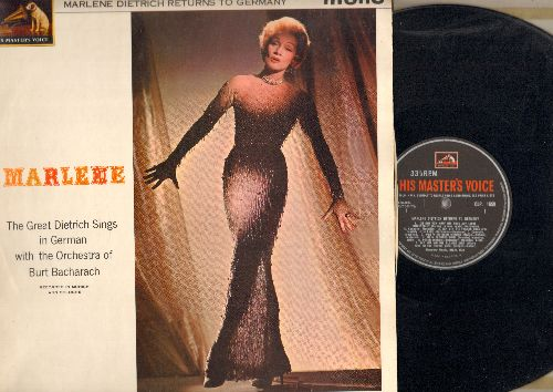 Dietrich, Marlene - Marlene Dietrich Returns To Germany: Sag mir wo die Blumen sind, Lili Marlen, Ich bin die feche Lola, Johnny wenn du Geburtstag hast (vinyl MONO LP record, British Pressing, sung in German) - EX8/EX8 - LP Records
