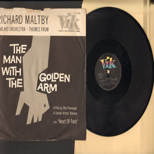 Maltby, Richard & His Orchestra - The Man With The Golden Arm/Heart Of Paris (10 inch 78 rpm record with RARE picture sleeve) - NM9/VG7 - 78 rpm