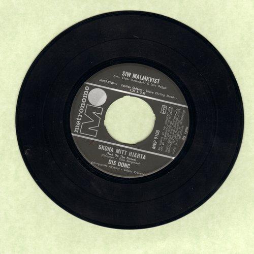 Malmkvist, Siw - Skona Mitt Hjarta/Disc Donc/En Var Som Alla Andra Varar/Sok Och Finn (vinyl EP record, Swedish Pressing, sung in Swedish) - NM9/ - 45 rpm Records