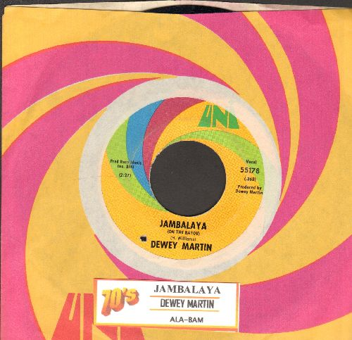Martin, Dewey - Jambalaya (on The Bayou)/Ala-Bam (with juke box label and Uni company sleeve) (bb) - EX8/ - 45 rpm Records