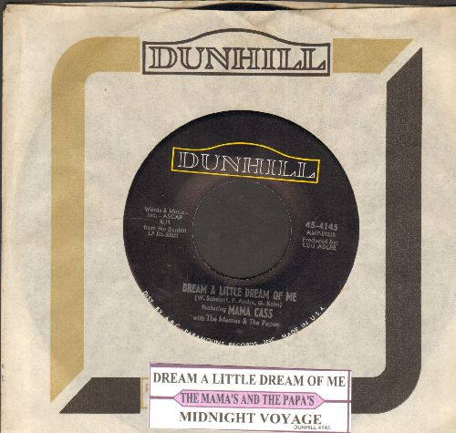 Mama Cass - Dream A Little Dream Of Me/Midnight Voyage (with Dunhill company sleeve and juke box label) - NM9/ - 45 rpm Records