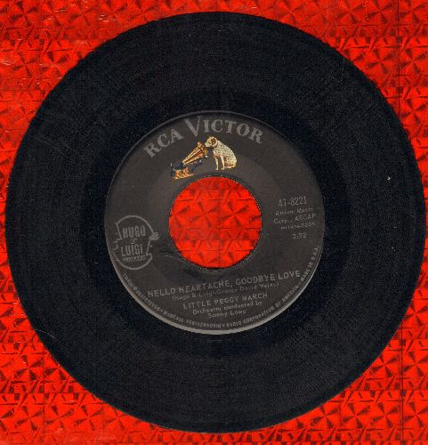 March, Little Peggy - Hello Heartache, Goodbye Love/Boy Crazy  - EX8/ - 45 rpm Records