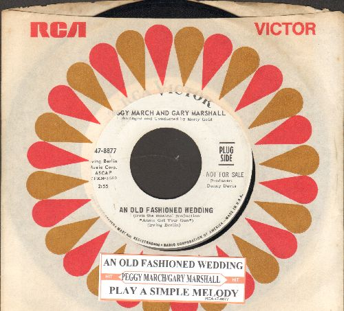 March, Peggy - An Old Fashioned Wedding/Play A Simple Melody (DJ advance pressing with juke box label and RCA company sleeve) - NM9/ - 45 rpm Records