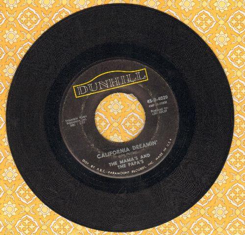 Mamas & Papas - California Dreamin'/Somebody Groovy - VG6/ - 45 rpm Records