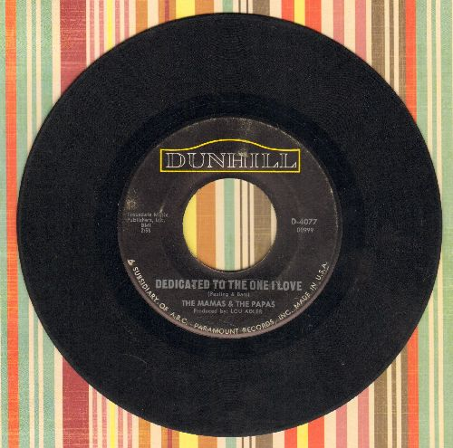 Mamas & Papas - Dedicated To The One I Love/Free Advice  - VG6/ - 45 rpm Records