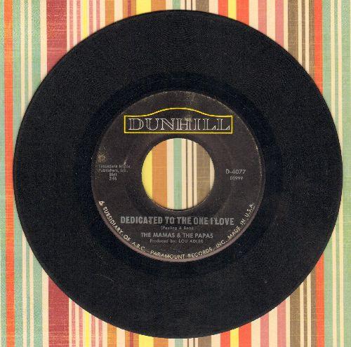 Mamas & Papas - Dedicated To The One I Love/Free Advice  - VG6/ - 45 rpm Records