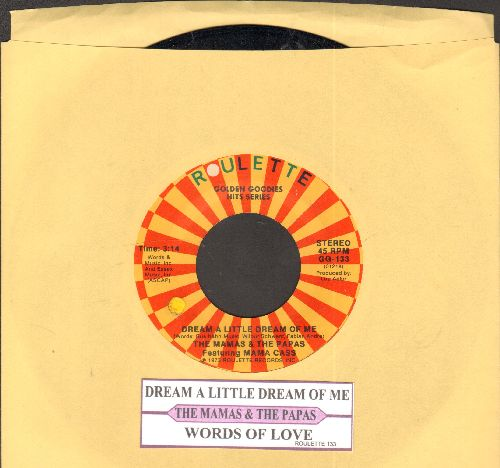 Mama Cass - Dream A Little Dream Of Me/Words Of Love (double-hit re-issue with juke box label) - NM9/ - 45 rpm Records