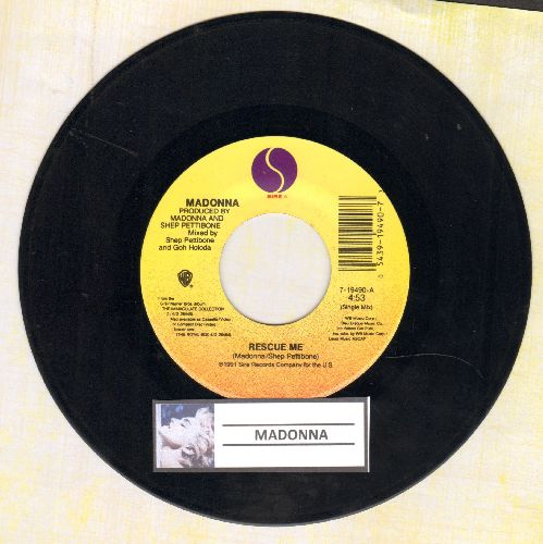 Madonna - Rescue Me (4:53)/Rescue Me (4:57 Alternate Single Mix) - EX8/ - 45 rpm Records
