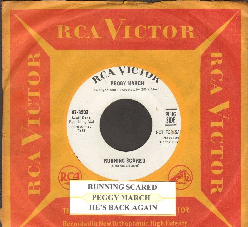 March, Peggy - Running Scared/He's Back Again (DJ copy with vintage RCA company sleeve) - NM9/ - 45 rpm Records