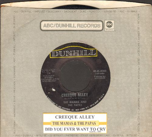 Mamas & Papas - Creeque Alley/Did You Ever Want To Cry (with juke box label and company sleeve) - VG7/ - 45 rpm Records