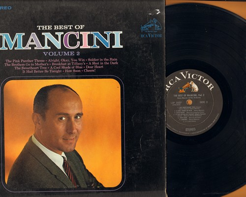 Mancini, Henry - The Best Of Mancini Volume 2: The Pink Panther Theme, A Shot In The Dark, Dear Heart, The Sweetheart Tree, Breakfast At Tiffany's  (Vinyl STEREO LP record, black label first issue) - EX8/VG7 - LP Records