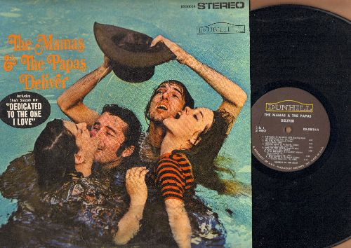 Mamas & Papas - The Mamas & The Papas Deliver: Dedicated To The One I Love, Creeque Alley, Twist And Shout, Look Through My Window (STEREO LP record) - NM9/EX8 - LP Records