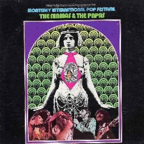 Mamas & Papas - Monterey International Pop Festival: California Dreamin', Somebody Groovy, Monday Monday, Dancing In The Street (Vinyl STEREO LP record, gate-fold cover, recorded LIVE) - EX8/VG7 - LP Records