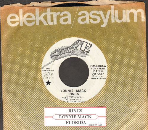 Mack, Lonnie - Rings/Florida (DJ advance pressing with juke box label and company sleeve) - NM9/ - 45 rpm Records