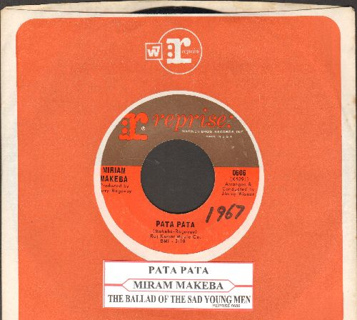 Makeba, Miriam - Pata Pata/The Ballad Of The Sad Young Men (with Reprise company sleeve and juke box label) - NM9/ - 45 rpm Records