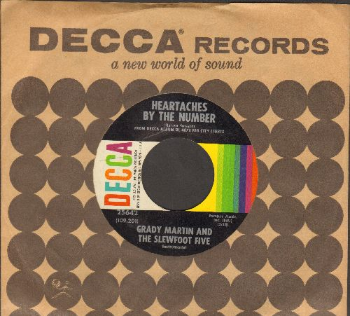 Martin, Grady & The Slewfoot Five - Heartaches By The Number/The Velvet Glove (with vintage Decca company sleeve) - NM9/ - 45 rpm Records