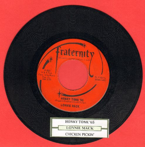 Mack, Lonnie - Honky Tonk '65/Chicken Pickin' (with juke box label) - EX8/ - 45 rpm Records