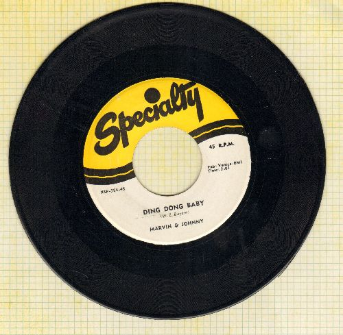 Marvin & Johnny - Ding Dong Baby/Mamo Mamo (authentic-looking double-hit re-issue) - NM9/ - 45 rpm Records