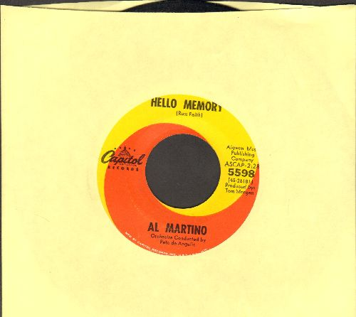 Martino, Al - Hello Memory/Think I'll Go Somewhere And Cry Myself To Sleep - EX8/ - 45 rpm Records