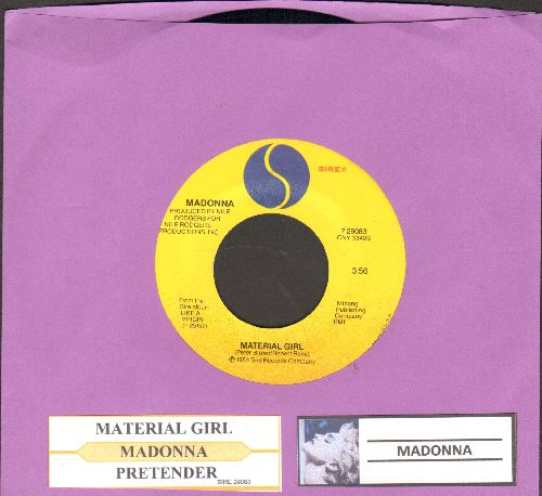 Madonna - Material Girl/Pretender (with juke box label) - EX8/ - 45 rpm Records