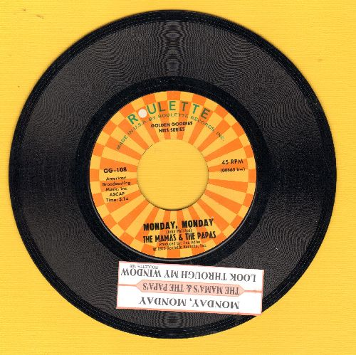 Mamas & Papas - Monday, Monday/Look Through My Window (authentic-looking double-hit re-issue) - EX8/ - 45 rpm Records