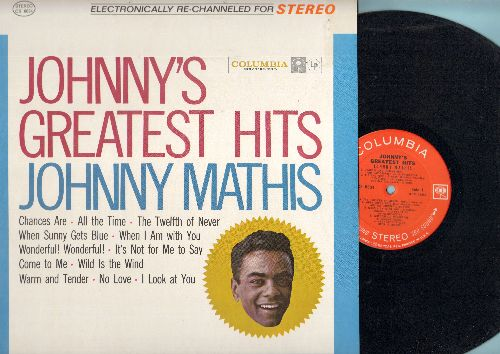 Mathis, Johnny - Johnny's Greatest Hits: Chances Are, The Twelfth Of Never, Wonderful Wonderful, Wild Is The Wind (Vinyl STEREO  LP record) - NM9/NM9 - LP Records